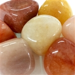 Orange Jade Tumbled stone