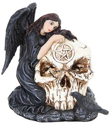 Fallen Angel Skull incense cone burner