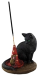 Black Cat and Mouse incense stick holder