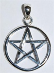 Silver Interwoven Pentagram