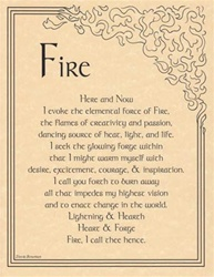 Fire Evocation Parchment Poster