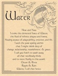 Water Evocation Parchment Poster