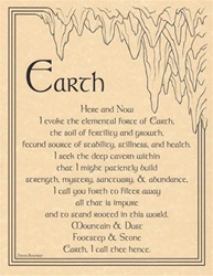 Earth Evocation Parchment Poster