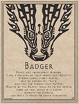 Badger Prayer parchment poster