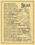 Bear Prayer parchment poster