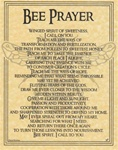 Bee Prayer parchment poster