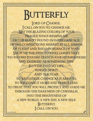 Butterfly Prayer parchment poster