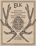 Elk Prayer parchment poster
