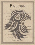 Falcon Prayer parchment poster