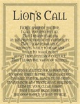 Lion Prayer parchment poster