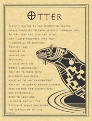 Otter Prayer parchment poster