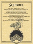 Squirrel Prayer parchment poster