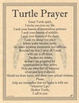 Turtle Prayer parchment poster