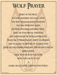 Wolf Prayer parchment poster