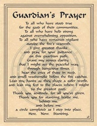 Guardian's Prayer Parchment Poster