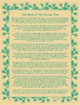 Rede of the Horned One Parchment Poster