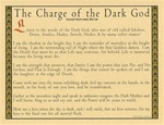 Dark God Parchment Poster