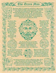 Green Man Parchment Poster