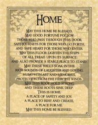 Home Blessing Parchment Poster