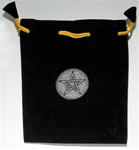 Printed Velvet Bag with Pentagram