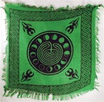 Goddess Moon Phase altar cloth