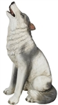 Large White Wolf Statue