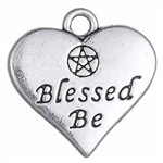 Blessed Be Heart charm