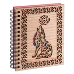 Carved Wood Journal – Howling Wolf