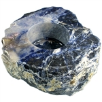 Sodalite Polished Candle Holder