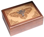 Laser Engraved Box with Metal Owl