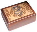 Laser Engraved Box with Metal Dragon