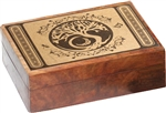 Tree of Life Carved Wooden Box