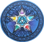 Round Pentacle Tapestry