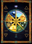 Wheel of Year tapestry