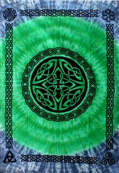Green Blue Celtic Knot tapestry