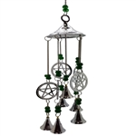Pentacle Chrome Wind Chime