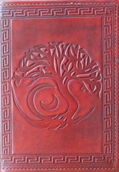 Tree of Life Leather Folder cover