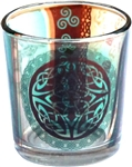 Celtic Knot Glass Votive Holder