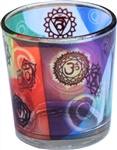 Chakra Glass Votive Holder