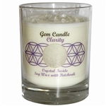 Harmonia Soy Candle Jar with Crystals - Clarity