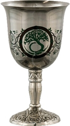 Tree of Life Goblet Stainless Steel