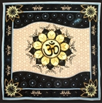 Om in Lotus Altar Cloth