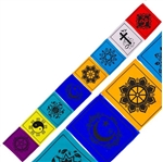 Multiple Faith Prayer Flags