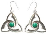Triquetra Earrings with gemstones