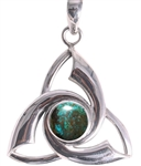 Triquetra Pendant with gemstones