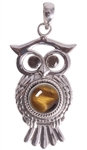 Owl Pendant with gemstones