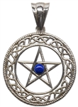 Sterling Pentagram Pendant with gemstones