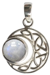 Sterling Moon with Moonstone pendant