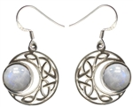 Sterling Moon with Moonstone earrings