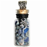 Witch Bottle Pendant with Sodalite